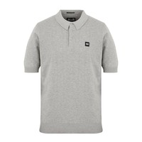 Weekend Offender Calanque fine cotton knit polo Grey Marl