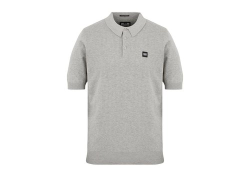 Weekend Offender Weekend Offender Calanque fine cotton knit polo Grey Marl