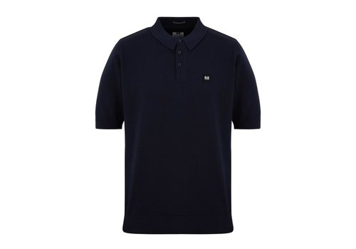 Weekend Offender Weekend Offender Calanque fine cotton knit polo Navy