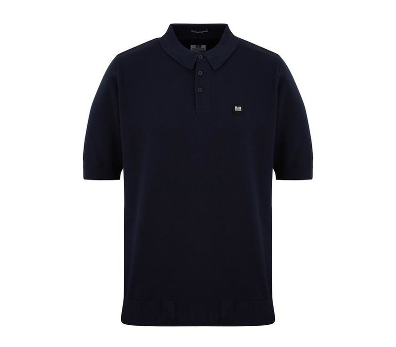 Weekend Offender Calanque fine cotton knit polo Navy