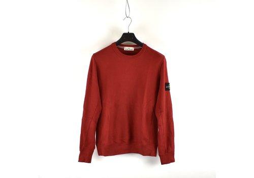 Stone Island Stone Island red cotton fleece crew neck sweatshirt M