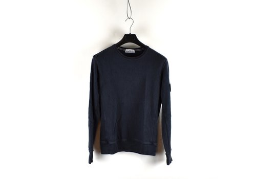 Stone Island Stone Island navy tinto old cotton fleece crew neck sweatshirt M