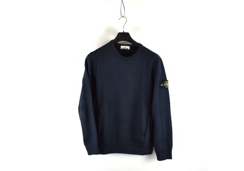 Stone Island Stone Island navy cotton fleece crew neck sweatshirt M