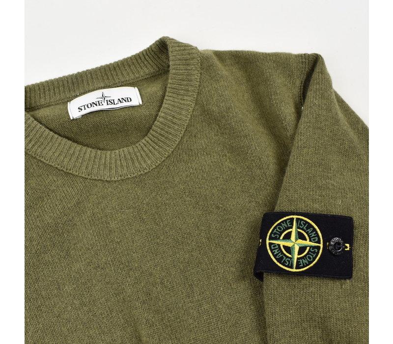 Stone Island green wool crew neck knit M