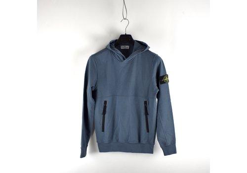 Stone Island Stone Island junior blue fleece cotton hoodie age 14