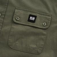 Weekend Offender Postiano long sleeve ranger shirt Dark Sage Green