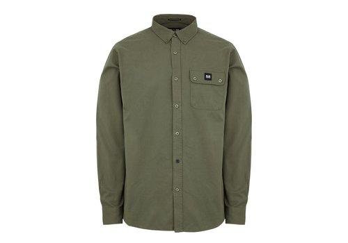 Weekend Offender Weekend Offender Postiano long sleeve ranger shirt Dark Sage Green