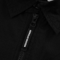 Weekend Offender Railay long sleeve cotton ripstop overshirt Black