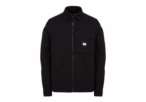 Weekend Offender Weekend Offender Railay long sleeve cotton ripstop overshirt Black