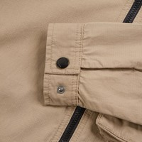 Weekend Offender Railay long sleeve cotton ripstop overshirt Stone
