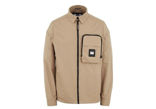 Weekend Offender Weekend Offender Railay long sleeve cotton ripstop overshirt Stone