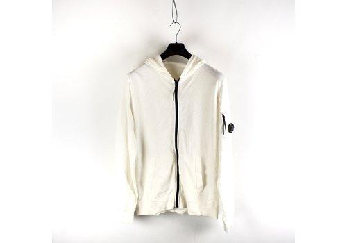 C.P. Company C.P. Company garment dyed light fleece lens full zip hooded sweatshirt White XL