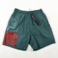 Stone Island green block swimwear shorts S