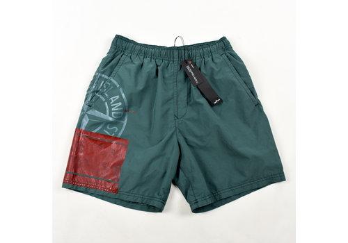 Stone Island Stone Island green block swimwear shorts S