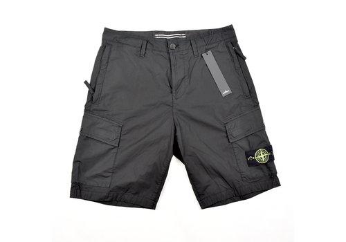Stone Island Stone Island black stretch cotton canvas re bermuda shorts 30