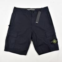 Stone Island navy stretch cotton canvas re bermuda shorts 30