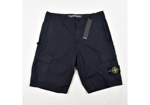 Stone Island Stone Island navy stretch cotton canvas re bermuda shorts 30