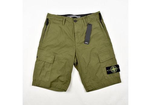 Stone Island Stone Island green stretch cotton canvas re bermuda shorts 30