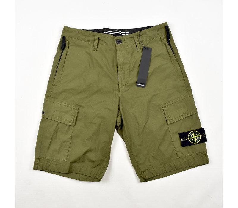 Stone Island green stretch cotton canvas re bermuda shorts 30