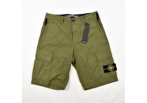 Stone Island Stone Island green stretch cotton canvas re bermuda shorts 29