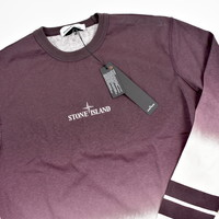 Stone Island red shaded print stripes long sleeve t-shirt XL