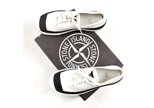 Stone Island Stone Island x Diemme white canvas low trainers 41