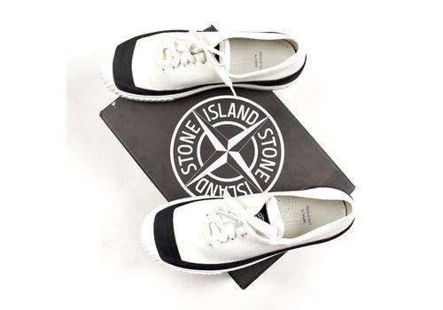 Stone Island Stone Island x Diemme white canvas low trainers 45