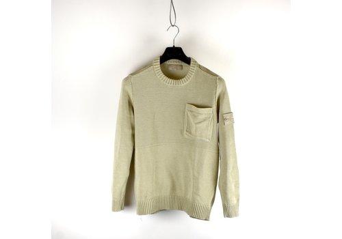 Stone Island Stone Island beige cotton ghost crew neck knit M