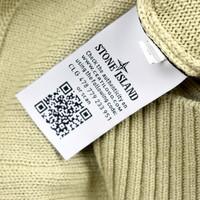 Stone Island beige cotton ghost crew neck knit M