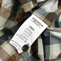 C.P. Company checked hooded cotton overshirt M