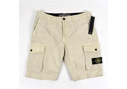 Stone Island Stone Island beige cotton canvas sl bermuda shorts 34