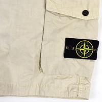 Stone Island beige cotton canvas sl bermuda shorts 34