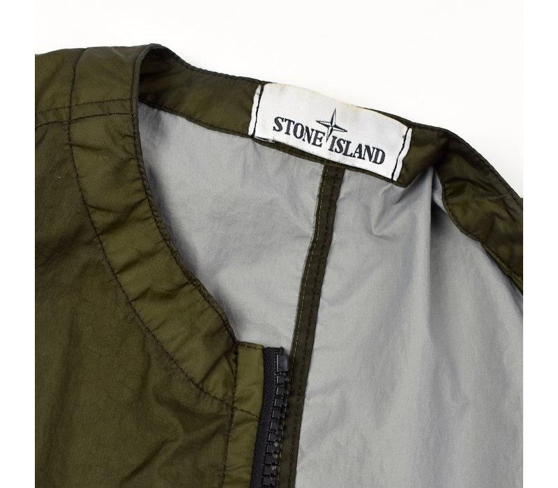 Stone Island brown membrana 3l tc gilet XL