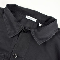 Stone Island black linoflax cotton longsleeve shirt XL