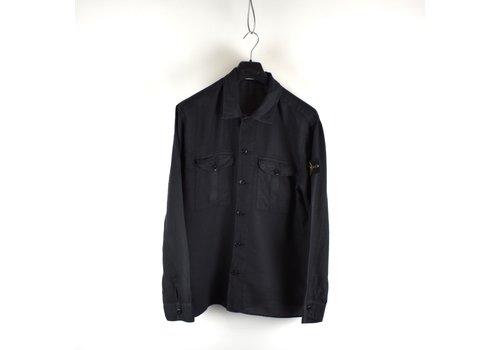 Stone Island Stone Island black linoflax cotton longsleeve shirt XL