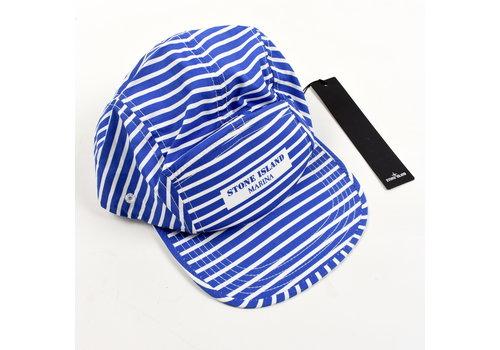 Stone Island Stone Island Marina blue striped cap L