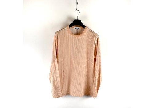 Stone Island Stone Island Marina peach pigment printed striped long sleeve t-shirt XL