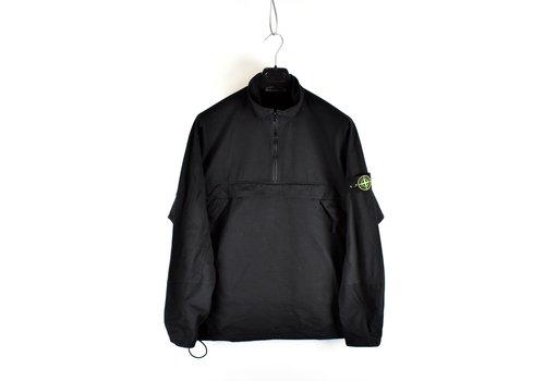 Stone Island Stone Island black ripstop cotton anorak overshirt jacket L