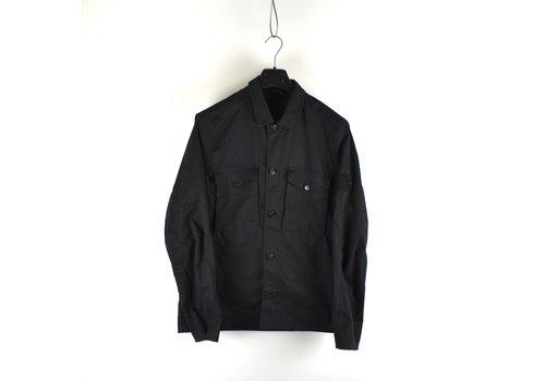 Stone Island Stone Island black monchromatic ghost cotton canvas overshirt jacket L