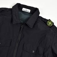 Stone Island black naslan light shoulder badge overshirt jacket M - Copy