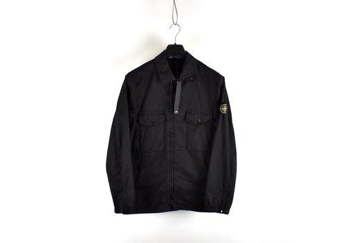 Stone Island Stone Island black AW21 stretch cotton gaberdine overshirt jacket S