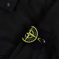 Stone Island black AW21 stretch cotton gaberdine overshirt jacket S