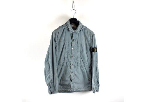 Stone Island Stone Island light blue hydrophobic treatment cotton nylon poplin hooded overshirt jacket XXL