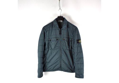 Stone Island Stone Island green garment dyed crinkle rep ny overshirt jacket L