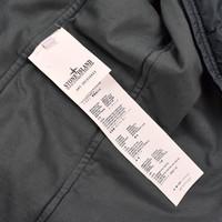 Stone Island green garment dyed crinkle rep ny overshirt jacket L