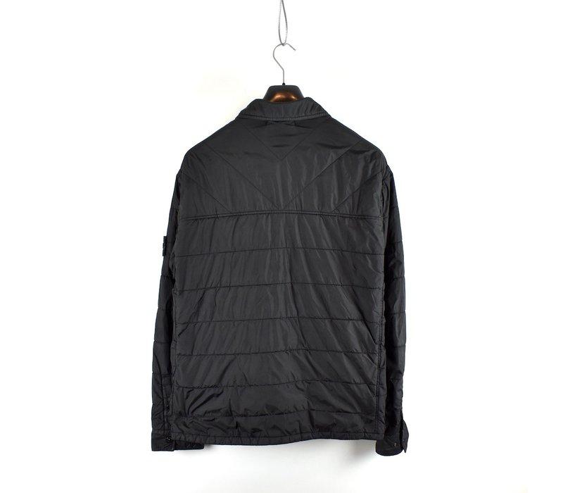 Stone Island black garment dyed crinkle rep ny overshirt jacket XXL