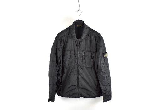 Stone Island Stone Island black garment dyed crinkle rep ny overshirt jacket XXL