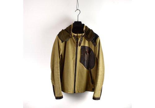 C.P. Company C.P. Company yellow brown British Millerain and  leather mille miglia goggle jacket 52