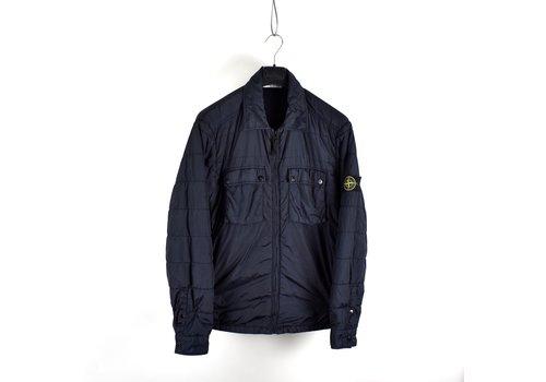 Stone Island Stone Island navy garment dyed crinkle rep ny overshirt jacket XL