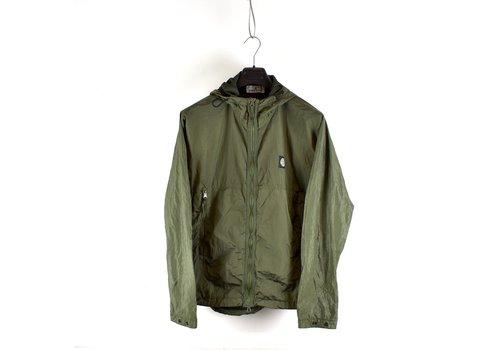 Stone Island Stone Island green nylon metal watro ripstop hooded jacket L